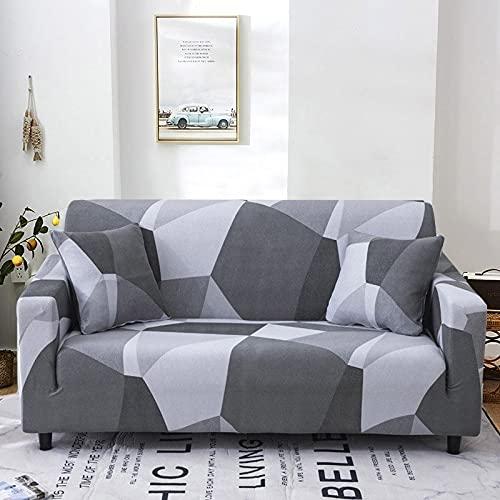 WXQY Fundas de Tela Escocesa elásticas elásticas Funda de sofá Antideslizante Funda de sofá para Mascotas Esquina en Forma de L Funda de sofá Antideslizante A5 4 plazas