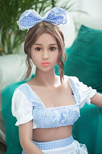 NewNow 158cm C-Cup Breast Sex Doll TPE Full Size Real Lifelike Solid Love Doll with 3 Holes (Tan Skin)
