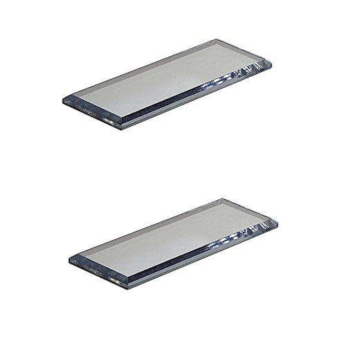 Mirart Pull Handle, Self Stick Acrylic Mirror Finger Glide Beveled Knob (2 Pack)