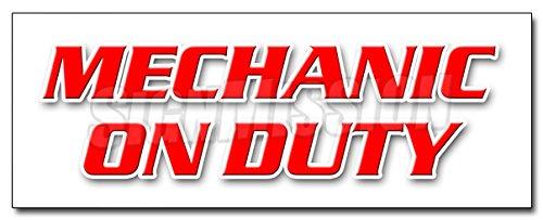 12' Mechanic ON Duty Decal Sticker Repair Shop Automotive Tools Maintenance