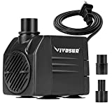 VIVOSUN 120GPH Submersible Pump(450L/H, 6W), Ultra Quiet Water Pump with 3.1ft...