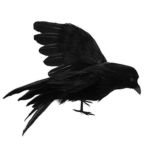 Fenteer Künstliche Rabe Krähe Waldvögel für Garten Balkon - #5