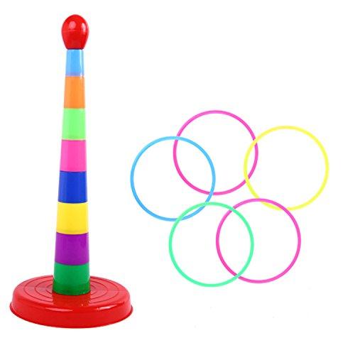 Knowing Toss Rings Spiele Set,Aktivitätsringe,Multicolor Kunststoff Ringe werfen,Für Geschwindigkeits- und Beweglichkeits-Trainingsspiele, Bunt