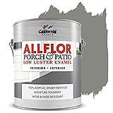 ALLFLOR California Paints Porch, Patio, Floor Paint (Gallon, Light Gray)