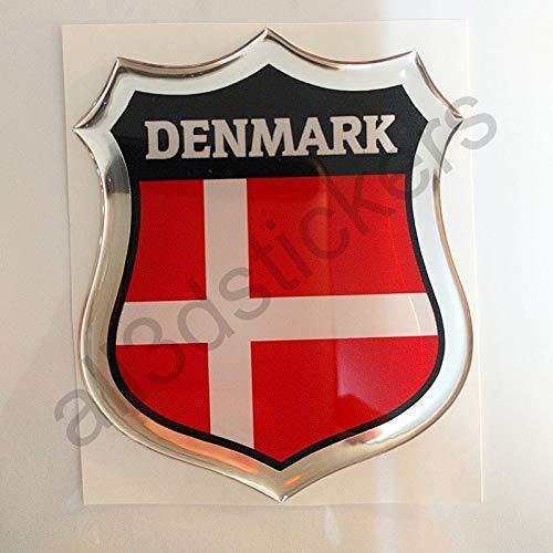 All3DStickers Aufkleber Dänemark Kfz-Aufkleber Dänemark Emblem Gedomt Flagge 3D Fahne