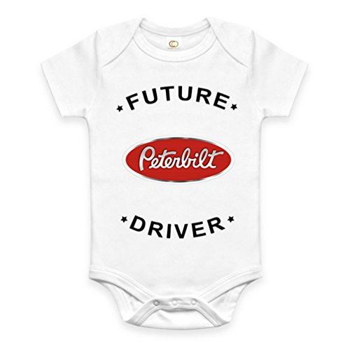 Rare New Future Peterbilt Truck Driver Funny Baby Clothes Cute Unisex Bodysuit Onesie Short Sleeve Romper One Piece Prime Outfits with Sayings Body Bébé (3-6 Mois)