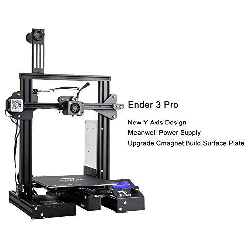 Impresora 3D Creality Ender 3 Pro, con Placa de Construcción Cmagnet, Tamaño de Impresión de 220x220x250 mm, Unidad de Fuente de Alimentación Meanwell