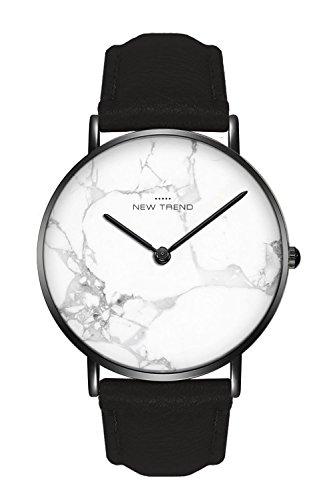 New Trend - Love for Accessories Damen Uhr analog Quarzwerk mit Kunst-Leder-Armband 4L-DY8H-59Q3