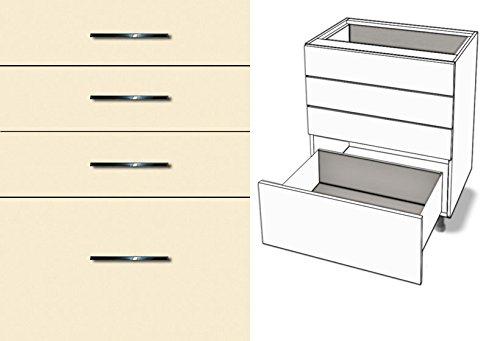 Premium-Ambiente TCX536 Unterschrank 4-Schubladen Vollauszug Tandembox Antaro Softclosing EURODEKOR® (Breite 100cm, 53 Vanille)
