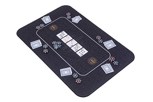 Riverboat Gaming The Broadway Pokermatte in schwarz Pokertisch - Pokertischauflage - 100 x 65cm