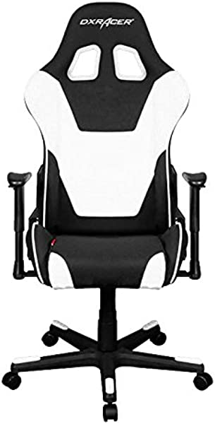 DXRacer OH FD101 NW Formula Series Black And White Gaming Chair Includes 2 Free Cushions