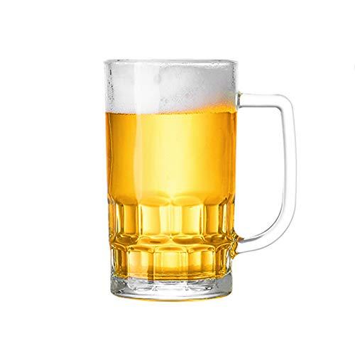 RNNTK Jarro De Cerveza con Mango Vidrio,Gran Capacidad Jarra De Cerveza para Padre Amantes De La Cerveza,Una Variedad De Estilos Es Interesante Jarras De Cerveza Durable-F 360ml