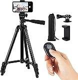 DAXINIU Trípode portátil Smartphone Celular Soporte del trípode for el teléfono trípode for teléfono Celular Titular Selfie Imagen for móviles Tripie Accesorios de la cámara (Color : Black)