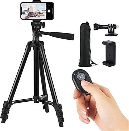 Xusuyunchuang Trípode portátil Smartphone Celular Soporte del trípode for el teléfono trípode for teléfono Celular Titular Selfie Imagen for móviles Tripie (Color : Black)