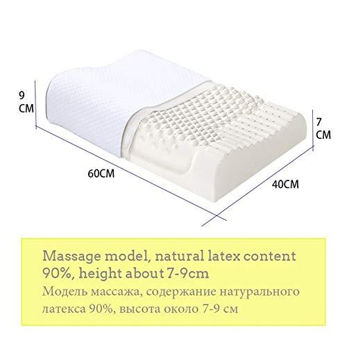 JXRA Langsam Rebound Schlafen Bett Kissen Nackenmassage Naturlatex Erscheinungsdruckkissen for Wohnzimmer Dauerhaft (Color : 5495)