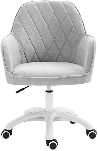 Office chair Fhw Upholstered Lounge Chair, Sponge-Filled, Modern Linen Fabric, with Casters, Desk Chairs for Lifting, Modern Casual Furniture