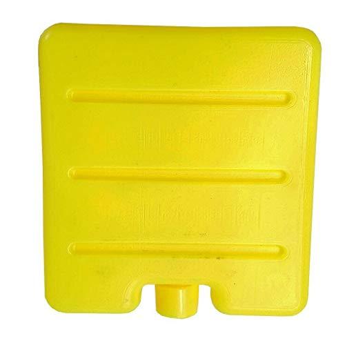 Yihaifu Reutilizable congelador fresco Bloquear la bolsa de hielo recorrido al aire libre de picnic caja de almuerzo nevera portátil hielo, Amarillo
