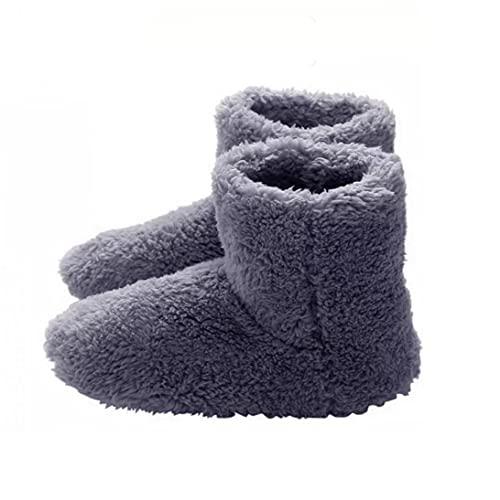 Yililay Climatizada Zapatillas para Hombre, USB Calefacción Zapatillas Invierno Caliente, calefacción Plantillas para la Noche de sueño 5V Calentador Gery
