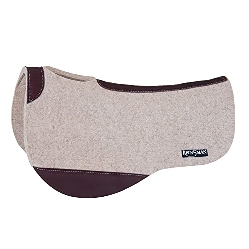 """Reinsman Apex Performance Wool Dropped Rigging Saddle Pad - 30"""" Length - 34"""" Drop - 3/4"""" Thick - Horse Size"""
