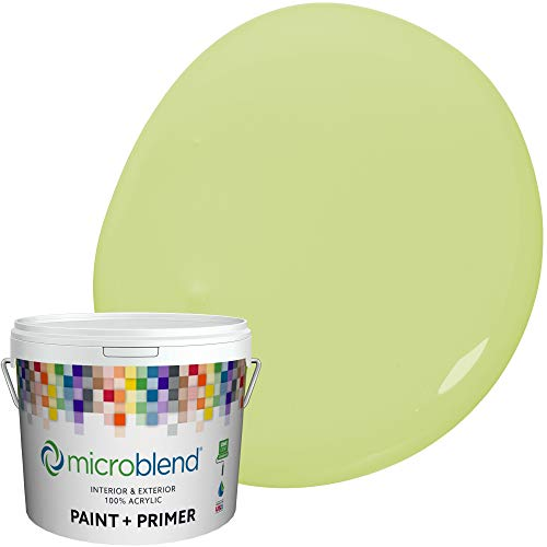 Microblend Exterior Paint and Primer - Chartreuse/Bursting with Taste, Sample, Custom Made, Premium Quality, One Coat Hide, Low VOC, Washable, Microblend Greens Family