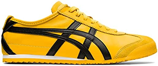 Onitsuka Tiger Unisex Mexico 66 Shoes, 9.5W, Yellow/Black