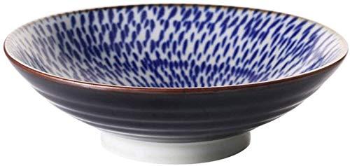 Gym Cuenco de Ceramica Ensalada De Fruta Tazón Fiesta Snack-Bol Creativo Pasta Bowl Japonesa Sopa Ramen Tazón Inicio del Cuenco del Helado (Color : 1600ml, Size : Blue)