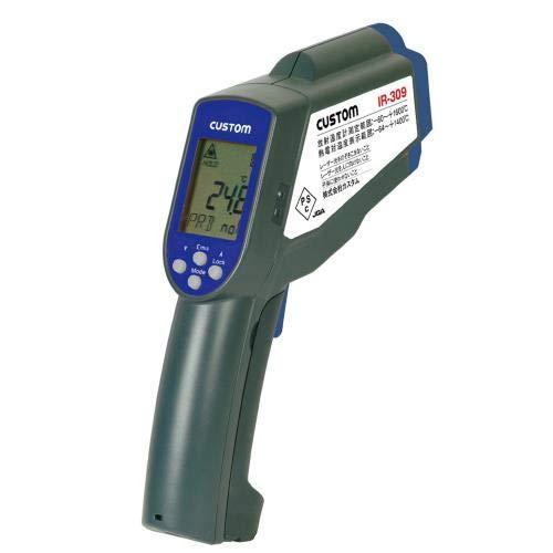 カスタム (CUSTOM) 放射温度計+K熱電対温度計 -60~1600℃ 2点式レーザーポイント機能付 別売K熱電対対応 IR-309