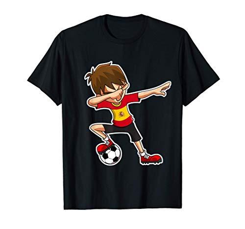 Dabbing Soccer Boy España Jersey Niños Españoles Dab Regalos Camiseta