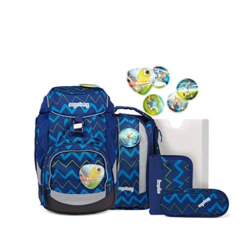 ergobag Pack, The Flexible School Backpack Unisex-Bambini, Orsetto Tira la Caduta, 25 x 22 x 35 cm