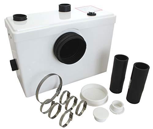 Tuecompra S.L. Triturador Sanitario WC 600 W - Bomba trituradora para Lavabo, baño o Cocina