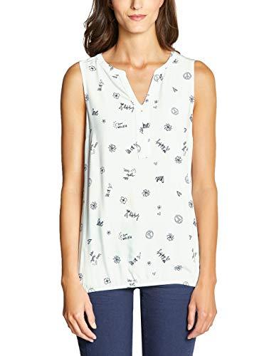 CECIL Damen 341569 Bluse, Mehrfarbig (Pure Off White 20125), XX-Large (Herstellergröße:XXL)