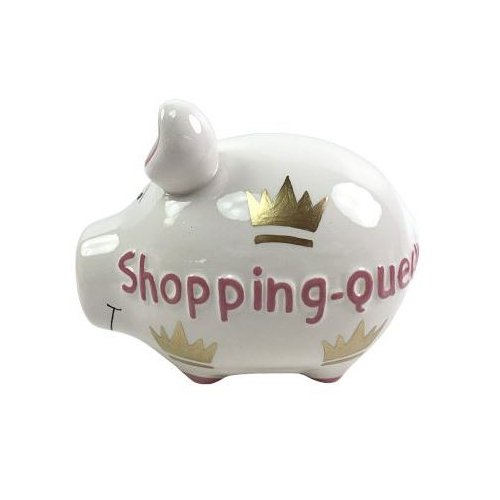 KCG Kleinschwein Keramik Sparschwein Shopping Queen/ca. 12.5 cm x 9 cm