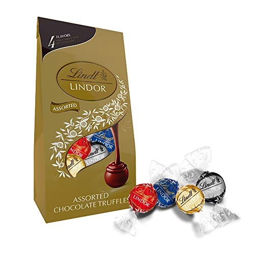 Lindt LINDOR 4 Flavors Assorted Truffles, 19 oz. Bag