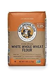 King Arthur White Whole Wheat Flour, 100% Whole Grain, 5 Pounds