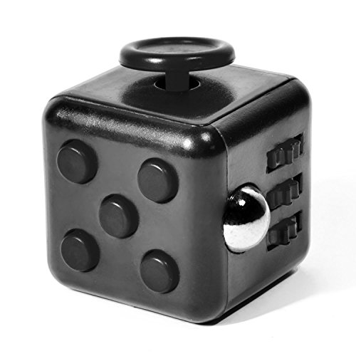 GOODS+GADGETS Cube anti-stress pour la motricité de la main, jouet de concentration et anti-stress, gadget anti-stress, noir