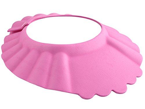 ISO TRADE Duschhaube Kinder Badekappe Verstellbar 13-15cm Ohr- und Augenschutz Universal 1835, Farbe:Rosa