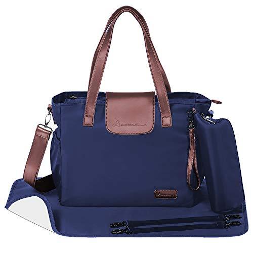 Limerence Wickeltasche blau mit wickelunterlage Babytasche Baby Diaper bag als Kinderwagentasche Voga (37 * 27 * 14.5 cm)