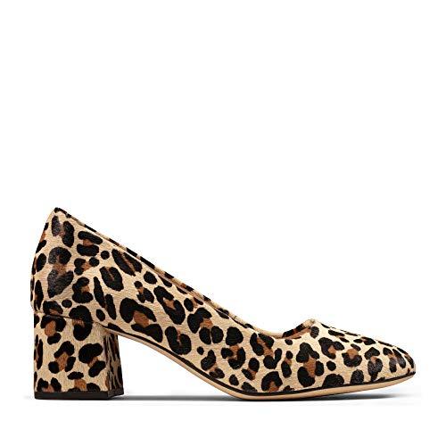 Clarks Damen Sheer Rose Pumps, Mehrfarbig (Leopard Print), 40 EU
