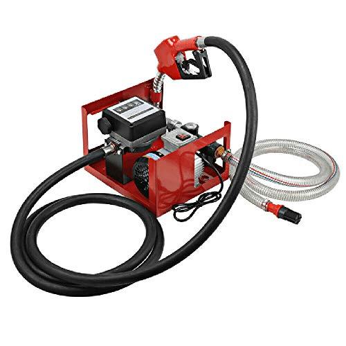 Generisch Heizölpumpe Dieselpumpe DP60L Selbstansaugend Zapfpistole Promote Ölpumpe Tankstelle mit Zählwerk, flexiblem Schlauch, Messing-Rückschlagventil MAX 60L/min Dieselförderung