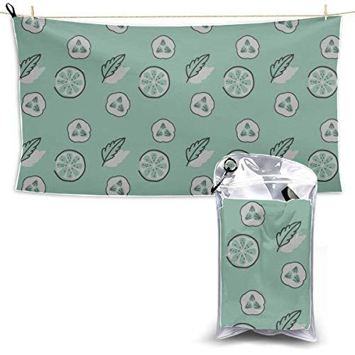 Toallas Beach Towels Shower Towels Toallas de mano de baño Vegetales verdes saludables Toallas de playa de pepino para niñas Bathroom Towels 160X80CM