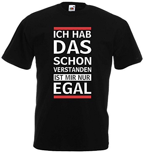 lustiges Herren T-Shirt Ich hab das Schon verstanden ist Mir nur egschwarz-XXXL