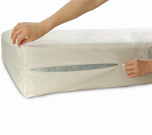 Allersoft Bettwanzen-, Staubmilben- & Allergiekontroll-Matratzenschutzumhüllung aus 100 Prozent Baumwolle, 90 x 200 x 25 cm