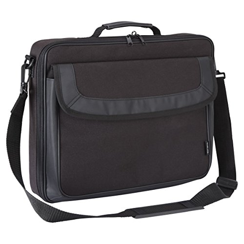 Targus Classic Clamshell Premium Protective Laptop Bag with Handles specifically designed to fit up to 15-15.6-Inch, Black (TAR300)