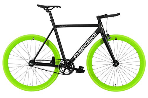 "FabricBike Light - Bicicleta Fixed, Fixie, Single Speed, Cuadro y Horquilla Aluminio, Ruedas 28"", 4..."