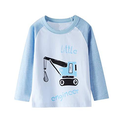 Kleinkind Kinder Baby Jungen Lange Ärmel Karikatur Brief Drucken T-Shirt Tops Tee Kleider A73