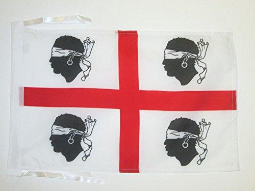 AZ FLAG Flagge SARDISCHER NATIONALISMUS 45x30cm mit Kordel - SARDINIEN Fahne 30 x 45 cm - flaggen Top Qualität