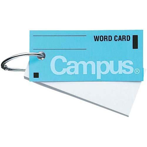 コクヨ『キャンパス 単語カード中 カードリングとじ85枚(101B)』