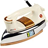 iBELL Hold The World. Digitally! HI9108 1200 Watts Dry Iron Box with Shockproof Body, Non-Stick Base and Adjustable Thermostat Control (White)