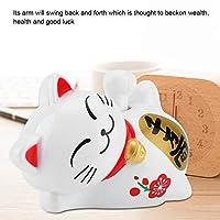 招き猫ラブリーキャットフィギュアソーラーラッキーキャットラッキーキャットオーナメント繁栄猫ホームディスプレイバーギフトストアコーヒーショップレストラン(Lucky fortune)