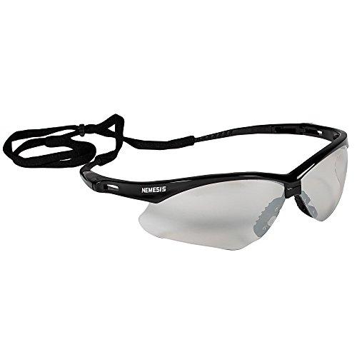 KleenGuard V30 Nemesis Safety Glasses (25685), Indoor / Outdoor Lens with Black Frame, 12 Pairs / Case